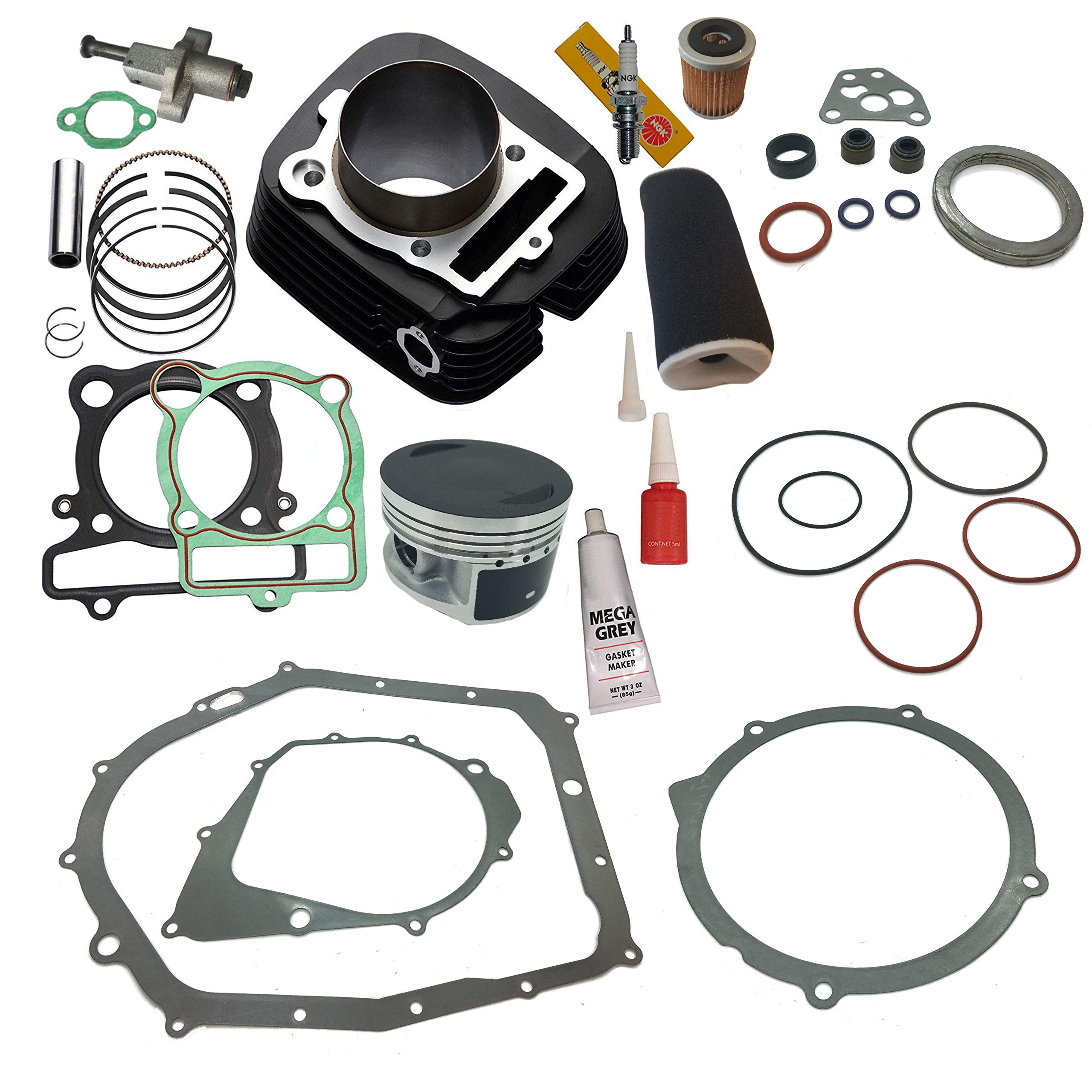 NEW! YAMAHA WARRIOR 350 CYLINDER PISTON GASKET OIL FILTER AIR FILTER TOP END KIT SET 1987 1988 1989 1990 1991 1992 1993 1994 1995 1996 1997 1998 1999 2000 2001 2002 2003 2004 by TOP NOTCH PARTS