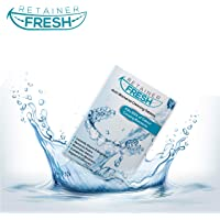 Retainer Cleaning Tablets - 120 Tablets 4 Months Supply Retainer Fresh Keeps Retainers Clean, Fresh, Bright, and Stain-Free - Dentures, Invisible Straighteners, Aligners, and Mouth Guards.
