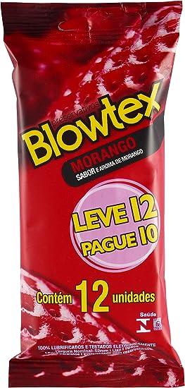 Preservativo Morango, Blowtex, Vermelho, 12 Unidades
