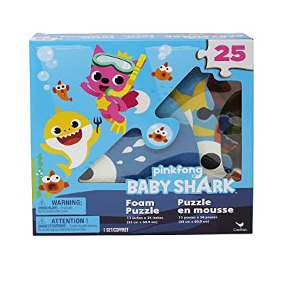 Pinkfong Baby Shark 25-Piece Foam Puzzle: Toys & Games