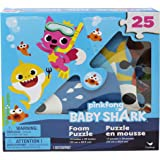 Pinkfong Baby Shark 25-Piece Foam Jigsaw Puzzle for Families, Kids, and Preschoolers Ages 4 and Up