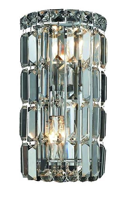 Elegant Lighting Maxim Collection WCRC Light Wall Sconce - 2 light bathroom sconce