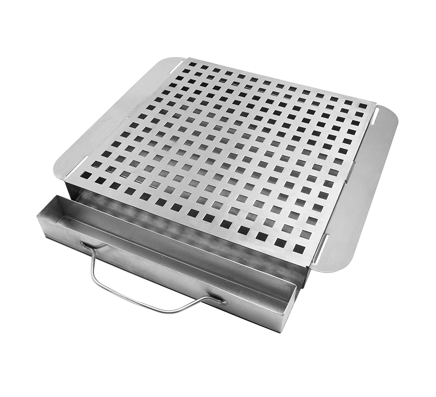 Charcoal Companion Stainless Moistly Grilled Smoking Platform CC3508