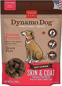 Cloud Star Dynamo Dog Skin & Coat, Functional Soft Chews, Salmon with Omega 3, Vitamin E, Grain Free