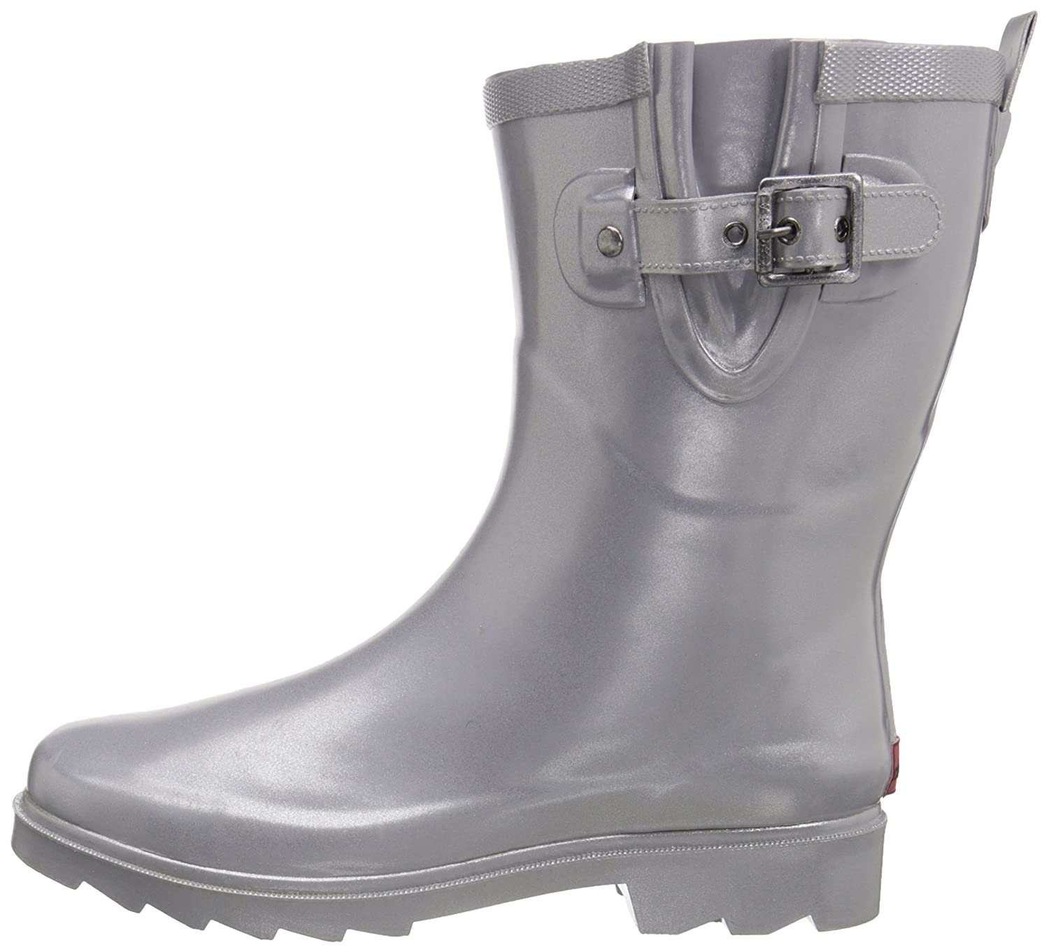 Chooka Women's Mid-Height Rain Boot B013PHIMW2 8 B(M) US|Silver