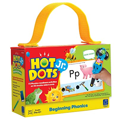 Educational Insights Hot Dots Jr. Beginning Phonics Card Set, Preschool and Kindergarten Readiness │Perfect for Homeschool and at-Home Learning: Toys & Games