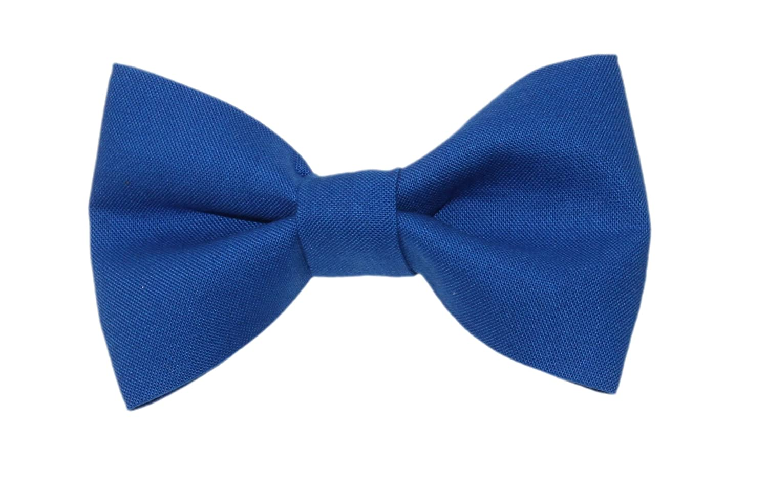 Made in USA Boys Royal Blue Clip On Cotton Bow Tie Bowtie