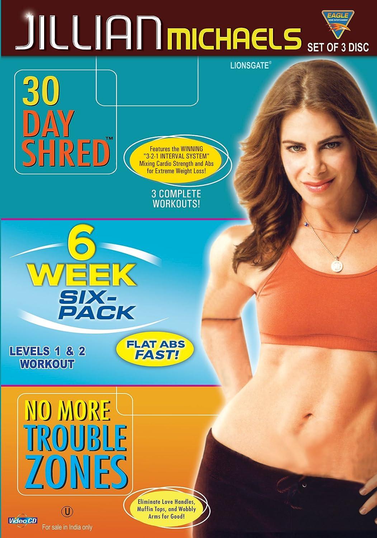 Amazon com: Jillian Michaels Vcd Set (30 Days Shred + 6 Week Six