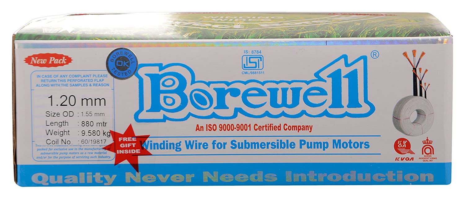 BOREWELL Submersible Winding Wire, Copper, 2.1 mm, White: Amazon.in ...