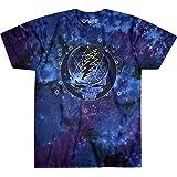 Liquid Blue unisex-adult Grateful Dead Mystical Stealie Celestial Tie Dye SS Tee T-Shirt