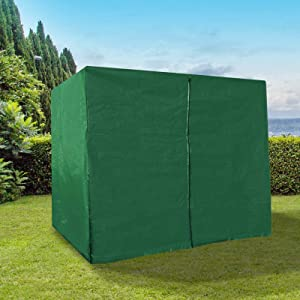 BenefitUSA Outdoor Furniture Porch Set 3 Seater Size Swing Cover Protective Protector (Green)