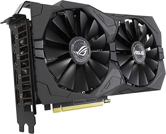Asus Rog Strix GeForce GTX 1650 Overclocked 4GB Edition VR Ready HDMI 2.0 DP 1.4 Gaming Graphics Card (Rog-STRIX-GTX1650-O4G-Gaming)