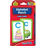 School Zone - Alphabet Match Flash Cards - Ages 4 and Up, Preschool to Kindergarten, ABC's, Letters, Matching, Beginning Sounds, Letter-Picture Recognition, and More