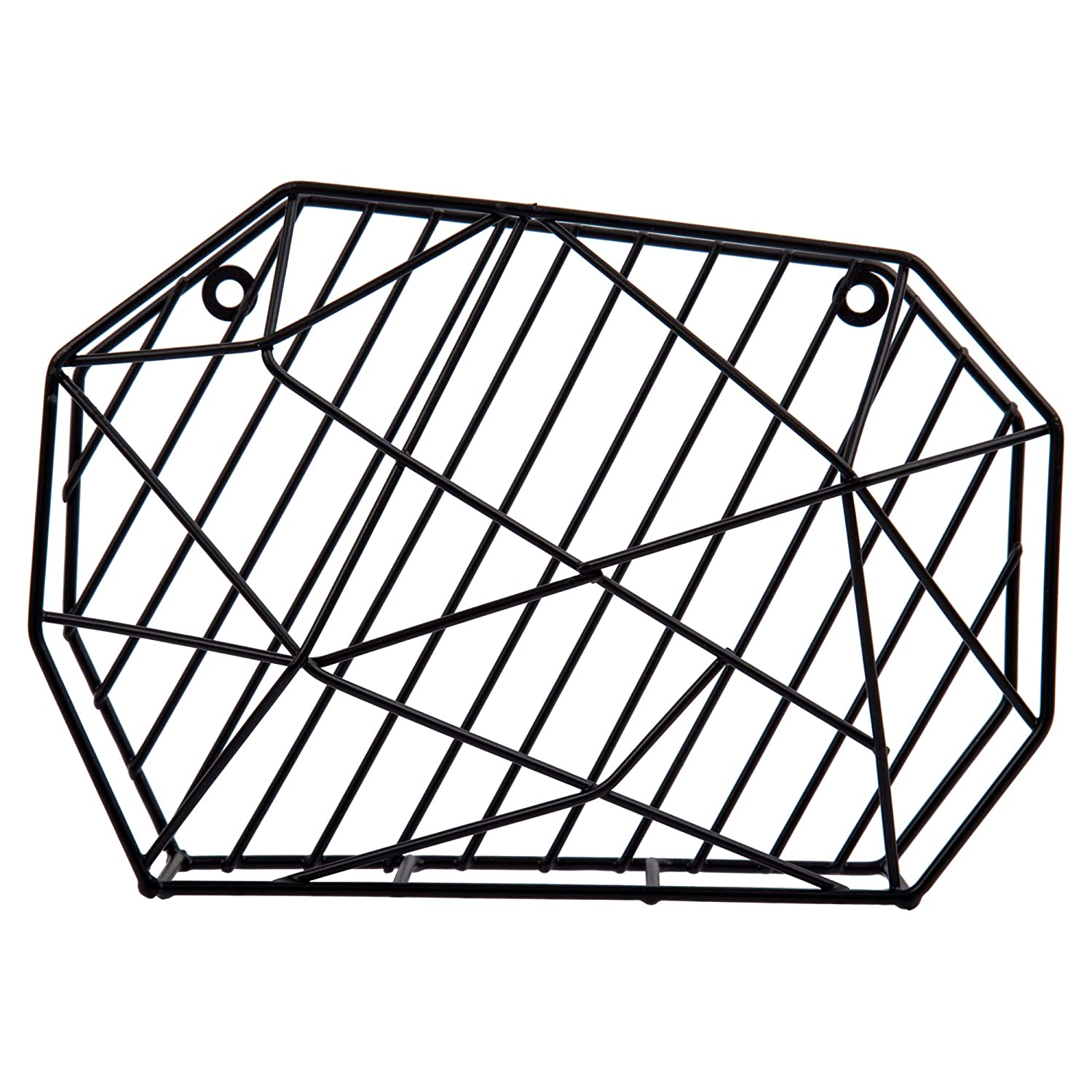 8.5 inches Black Modern and Stylish Bull Geo Wire Desk Organizer and Memo Holder for Office or Home CTG