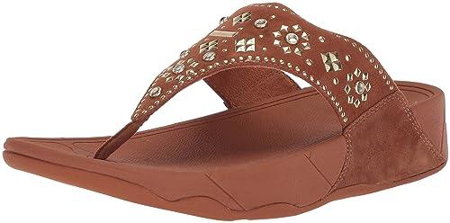 8ef1ac3e988d FitFlop Women s LULU Aztek Stud Toe-Thong Sandals-Suede