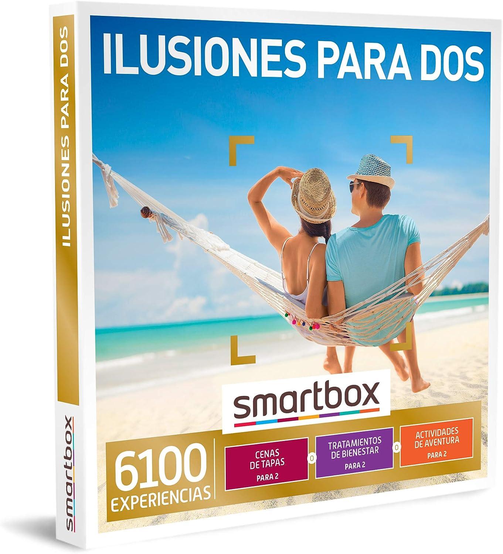 SMARTBOX - Caja Regalo - Ilusiones para Dos - Idea de Regalo - 1 Experiencia de gastronomía, Bienestar o Aventura para 2 Personas