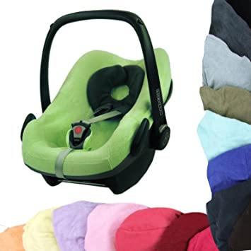 BAMBINIWELT Sommerbezug, Schonbezug, Bezug aus Frottee für MAXI-COSI PEBBLE Babyschale (hellgrün)