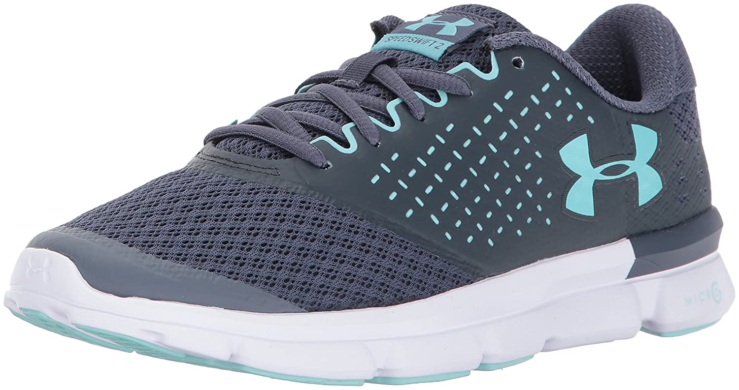 Under Armour Women's Speed Swift 2 Running Shoe B01N2SAFR3 5 M US|Apollo Gray (101)/Stealth Gray