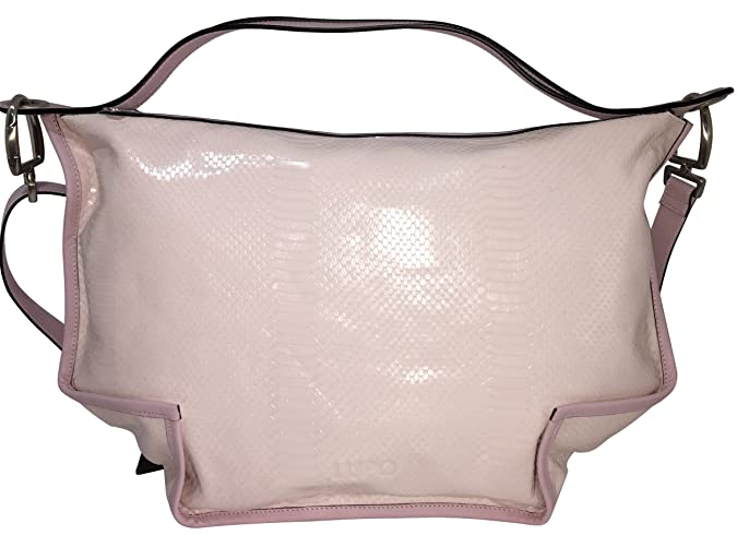 LUPO Barcelona Ladies Bag Snakeskin Print on Light Pink ...