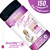 Nurse Hatty - Ketone Strips 150ct. - NEW & IMPROVED - U.S.A. Made - High Performance - Perfect for Ketogenic, Low Carb, Atkins & Paleo Diets + 38pg. KETO eBook - Urine Ketone Test (100ct. + 50 FREE)