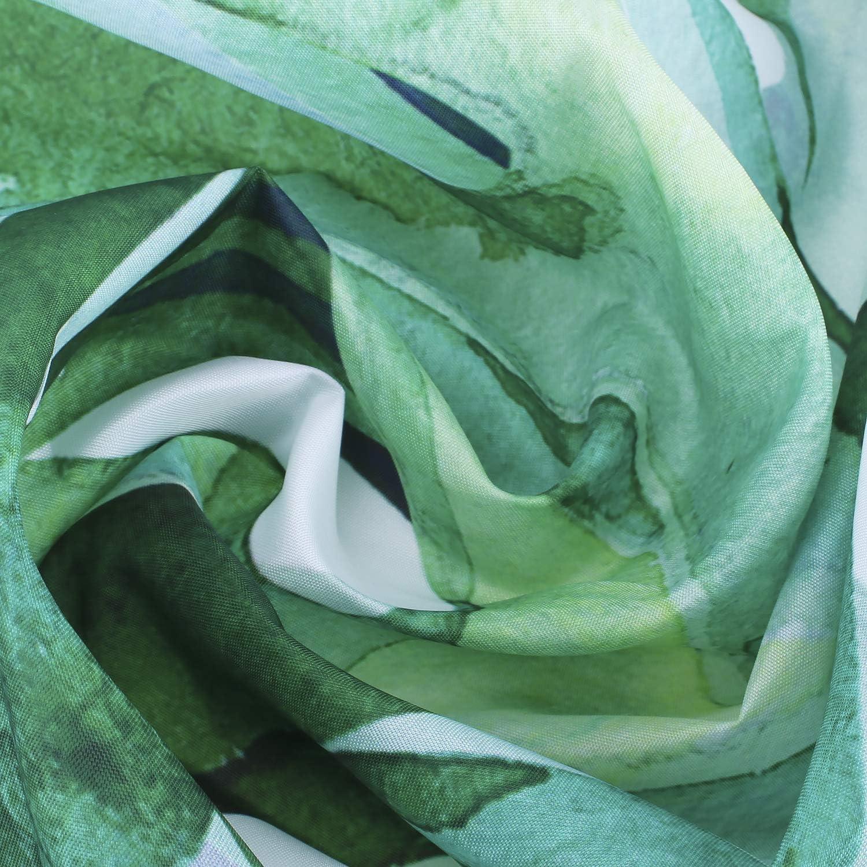 E-Bestar Rideau de Douche Jungle Tropical Paume Plant Rideaux de Douche Originaux Anti Moisissure Vert Tissu avec 12 Crochets 180cm *180cm