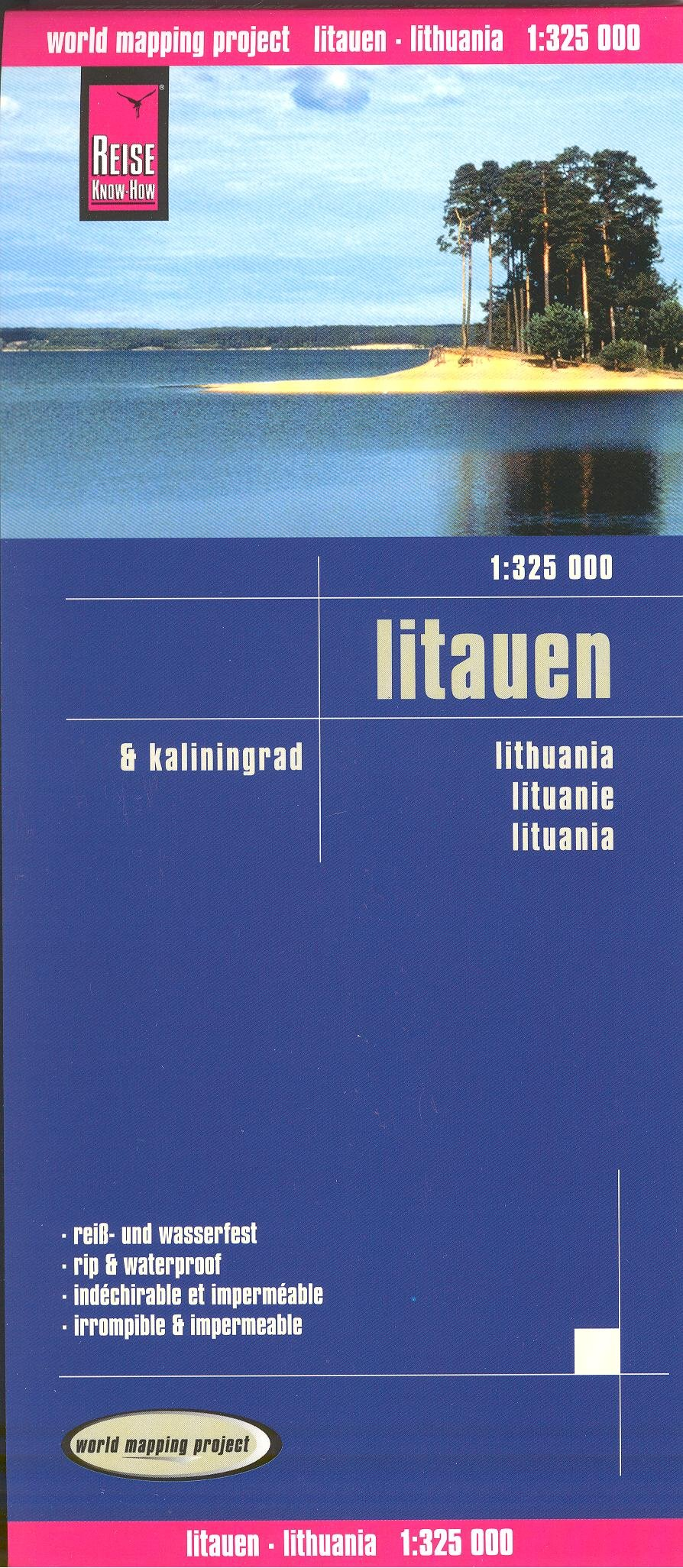 Lithuania & Kaliningrad (Russia) 1:325,000 Travel Map, waterproof, GPS-compatible REISE Map – Folded Map, 2010 Plan B005IW2OX6 Travel - Europe
