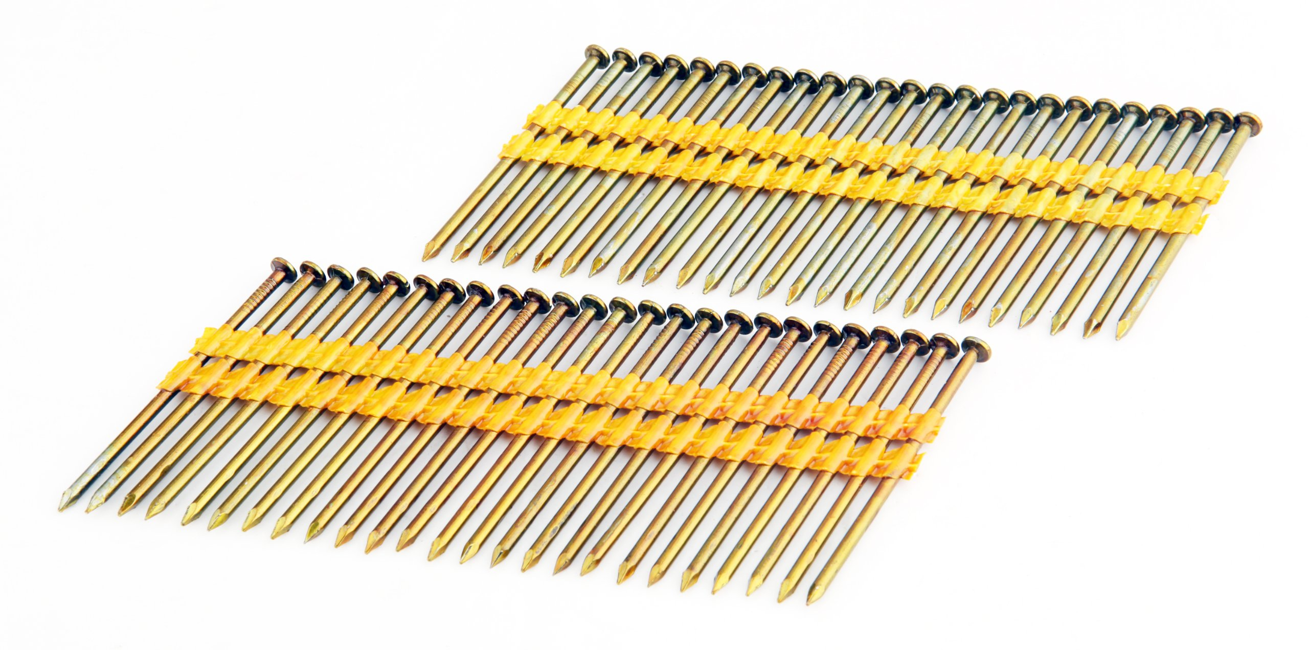 Freeman FR.131-3B 21 Degree .131'' x 3'' Smooth Shank Full Round Head Plastic Collated Brite Finish Framing Nails (2000 count) for General Construction