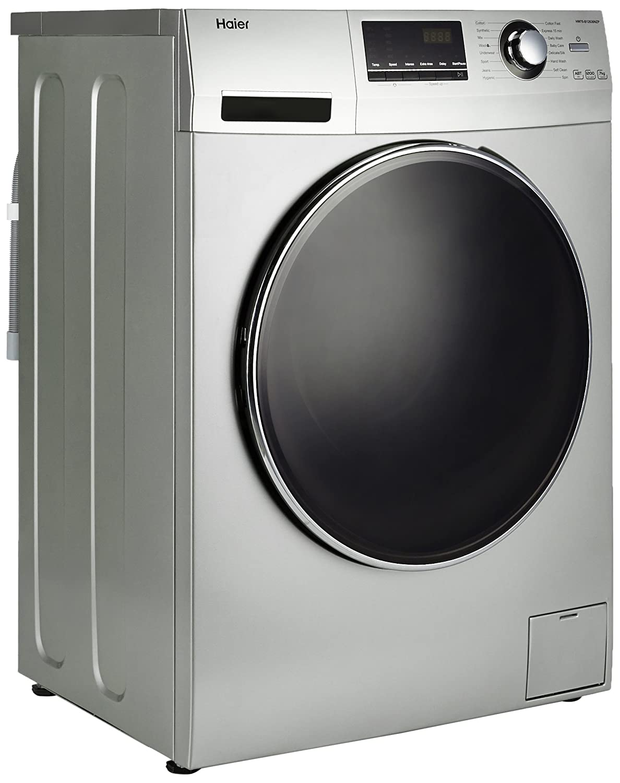 Haier 7 kg Fully-Automatic Front Loading Washing Machine (HW70-B12636NZP, on