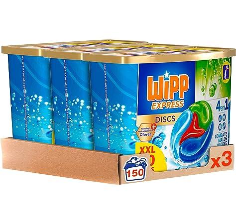 Wipp Express Detergente Antiolores en Cápsulas 50 Discos - Pack de ...