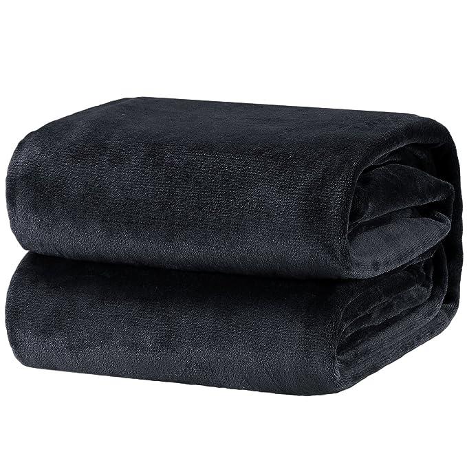 Bedsure Fleece Blanket Throw Size Dark Grey Lightweight Throw Blanket Super Soft Cozy Microfiber Blanket