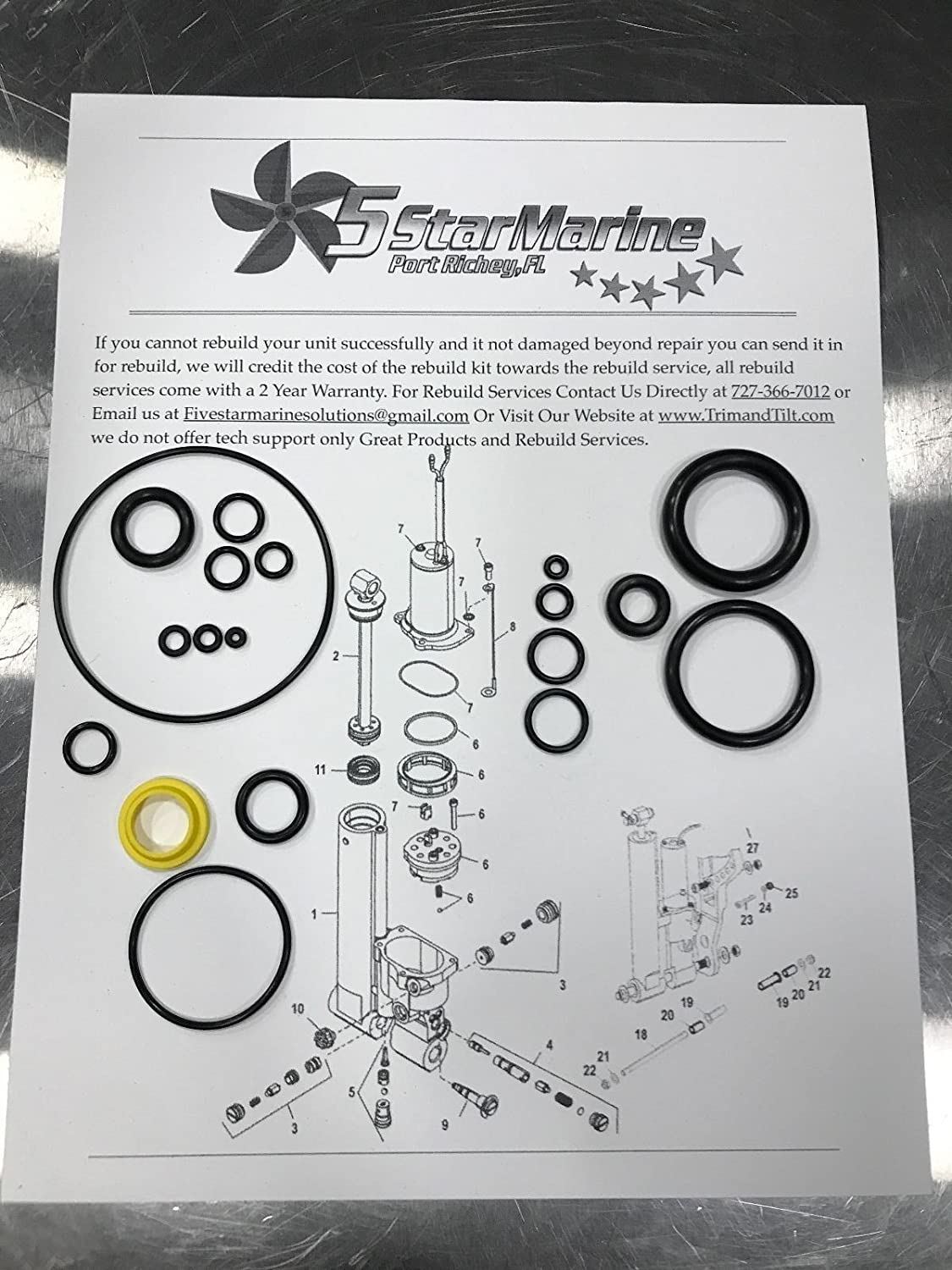 Rebuild Kit Mercury Force 25 30 35 40 50 60hp Tilt Hp Johnson Wiring Harness Diagram Trim 827668 A25 827668a Sports Outdoors