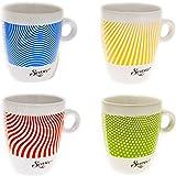 Senseo Limited Edition Tasse, Let us surprise you, Porcelaine, Gobelet, Lot de 4 Tasses à Café