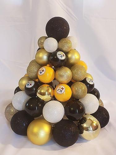 Amazon.com: PITTSBURGH STEELERS PRE-LIT CENTERPIECE CHRISTMAS TREE ...