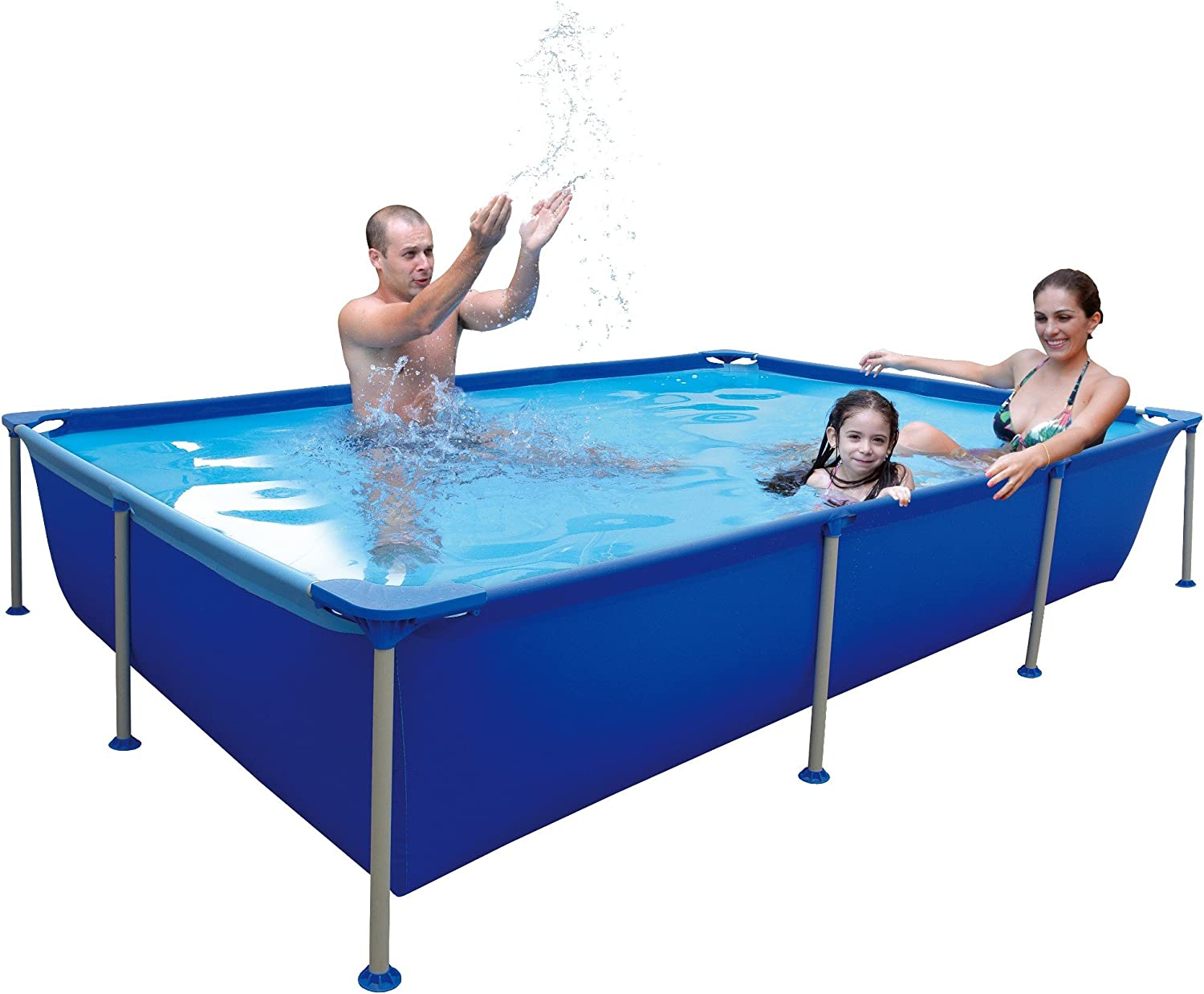 Jilong Passaat Blue 258 - Piscina Tubular de Acero, Forma ...