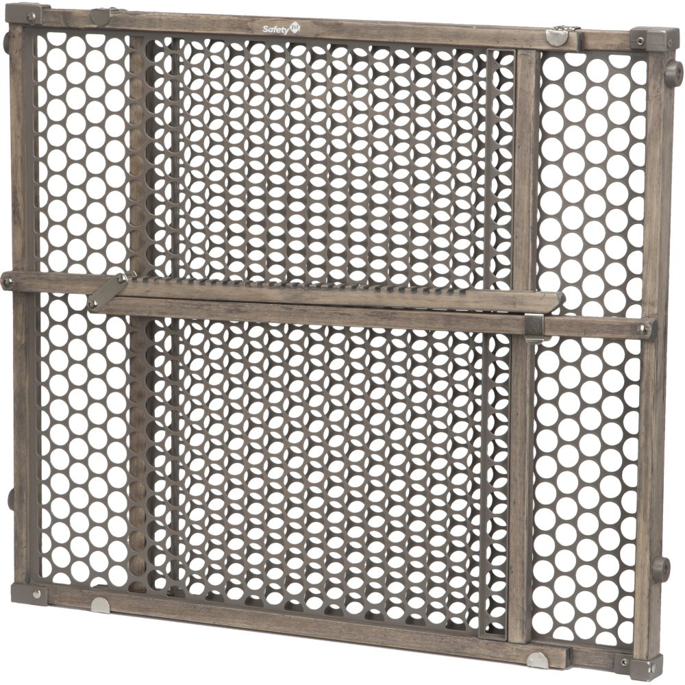 Safety 1st Vintage Wood Baby Gate with Pressure Mount Fastening (Gray) by Safety 1st