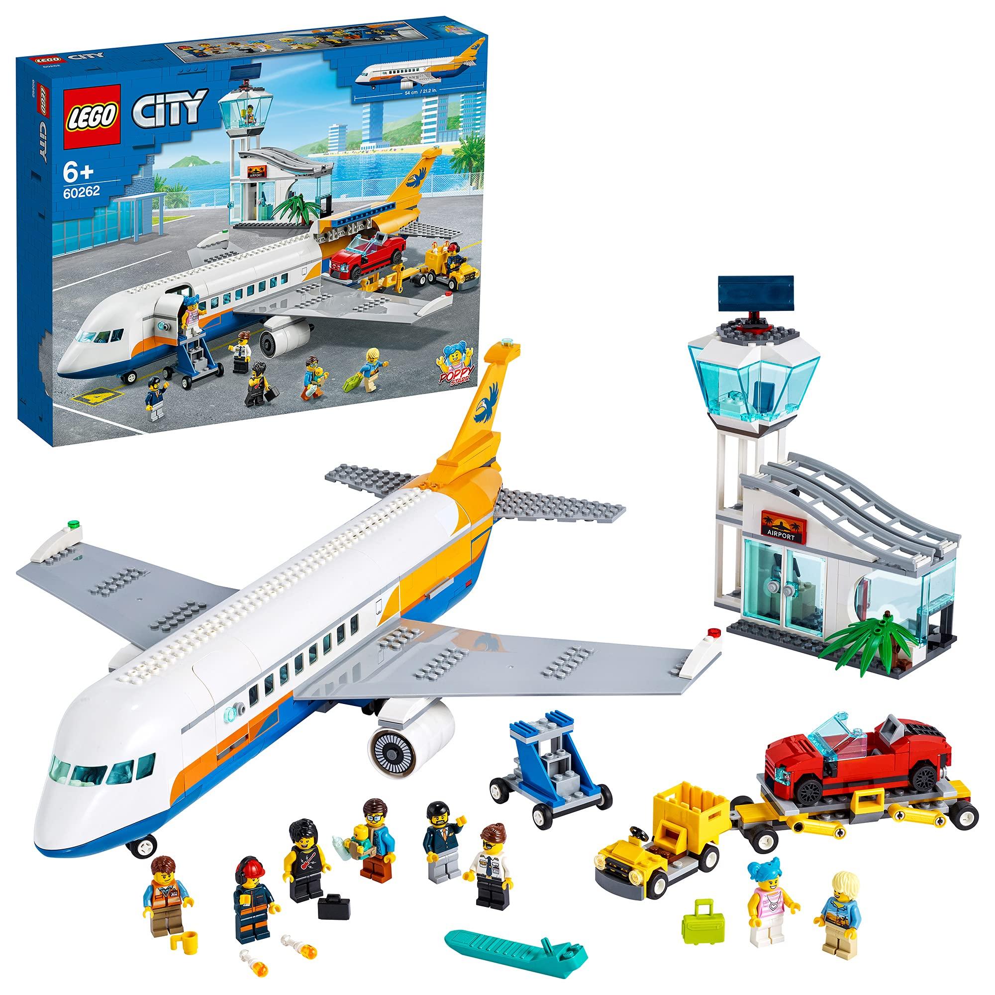 LEGO60262CityAirportPassengerAirplane,Terminal&TruckPlaySetforKids6+