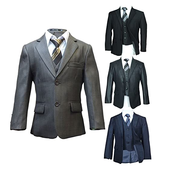 Italian Design All in one Boys Suits Formal Page boy Wedding Prom ...