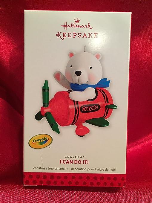 HALLMARK 2013 I Can Do It CRAYOLA Bear in Crayon Airplane New in Box