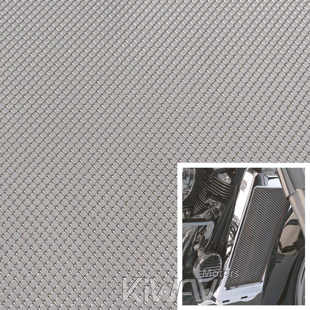 KiWAV Magazi Motorcycle Silver Universal 20x33cm Aluminum Diamond Mesh Grill Fairing insert