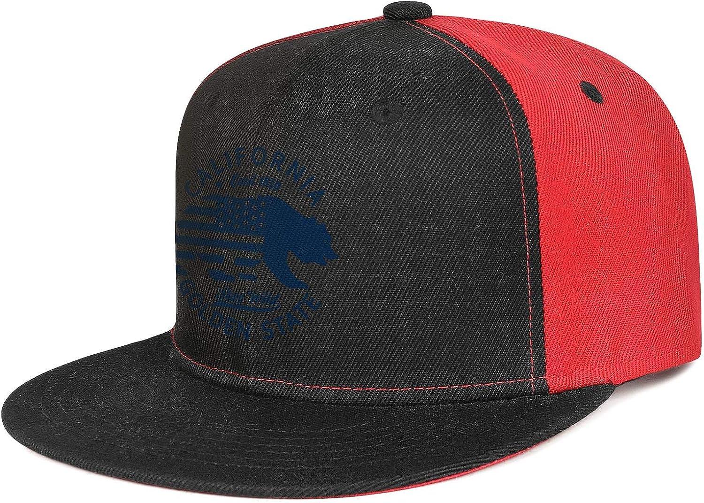 Unisex Mesh Snapback Caps California Map Bear Paw Brim Hip Hop Baseball Hats