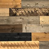 All Natural Real Solid Wood Accent Wall Planks VOC Free Reclaimed Inspired Panels DIY Barn Wood Boards Aged Rustic…