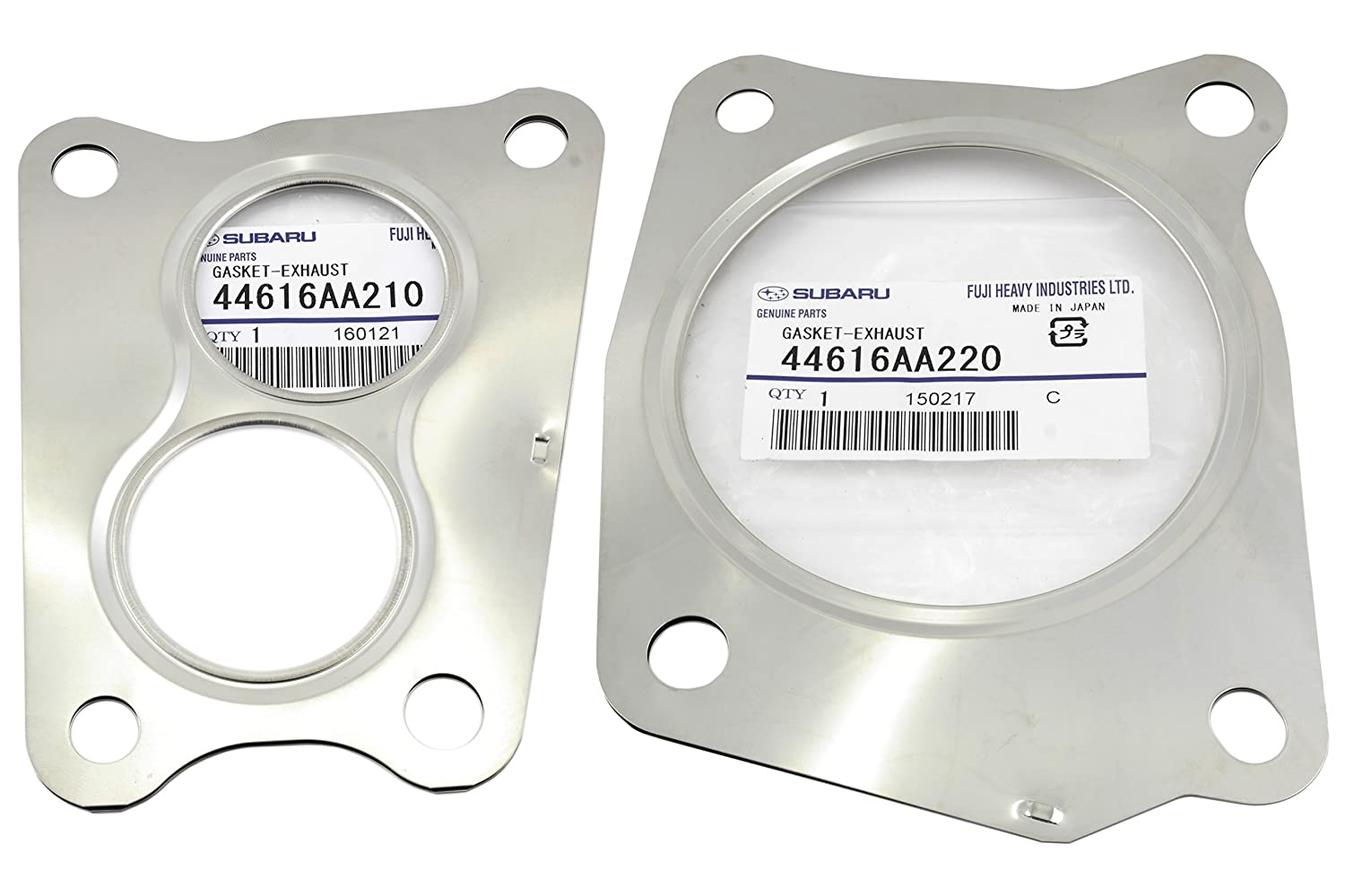 14-17 Subaru Turbo Inlet Outlet Gaskets WRX Forester OEM 44616AA210 & 44616AA220