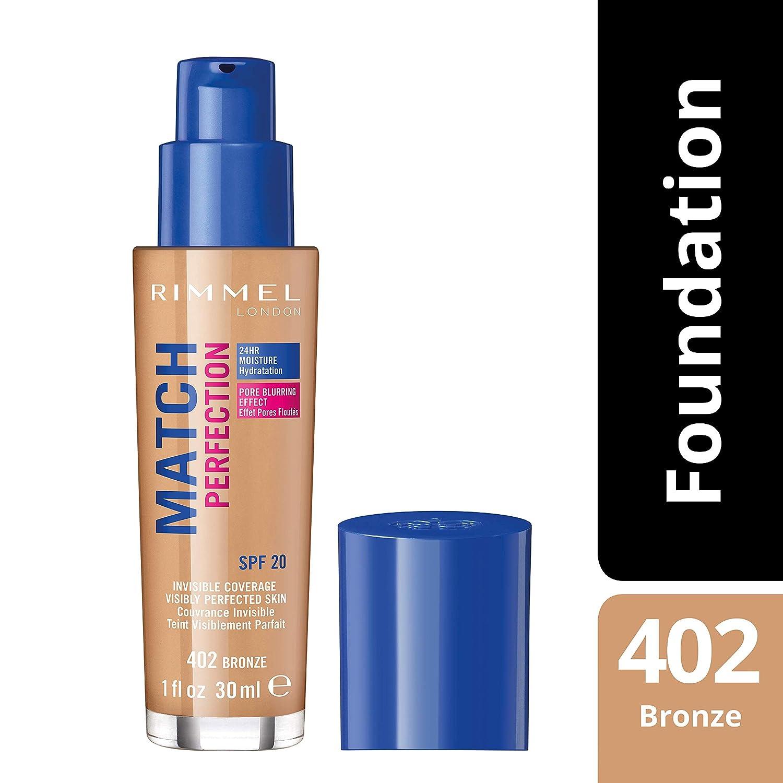 02922fbf5 Rimmel London, Match Perfection Foundation, Bronze, 30 ml: Amazon.ae:  gr8saver