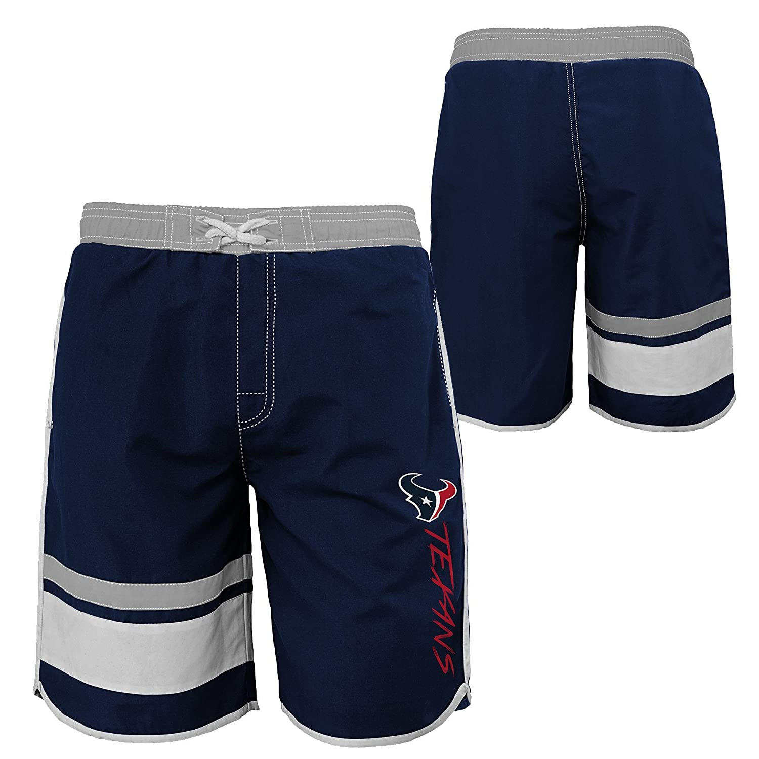 NFL Houston Texans Youth 8-20 Swim Trunk 14-16 Dark Navy Large