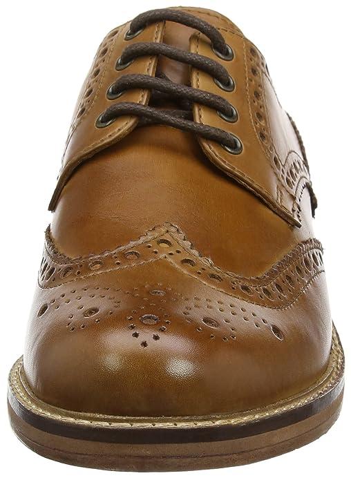 Tracasseries Administratives Meath, Chaussures Richelieu Lacets Homme Brun Foncé (tan 0) 45 Eu