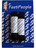 FeetPeople Flat Shoe Laces (Shoelaces) For Boots And Shoes, Multiple Colors, 2 Pair