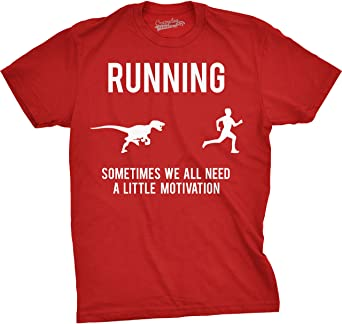 Crazy Dog Tshirts - Mens Running Motivation Raptor Chase T Shirt Funny Dinosaur  Tee for Guys - Homme  Amazon.fr  Vêtements et accessoires c33a9c476dd