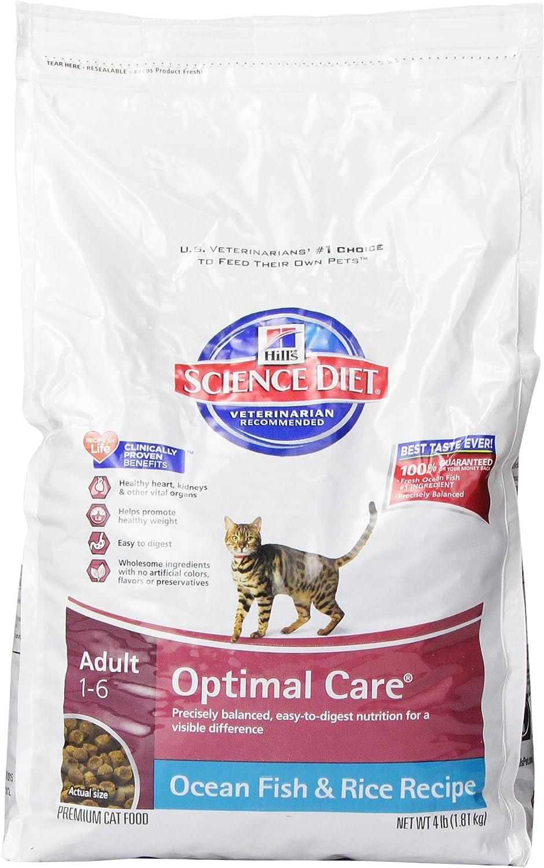 science diet optimum dry cat food bag