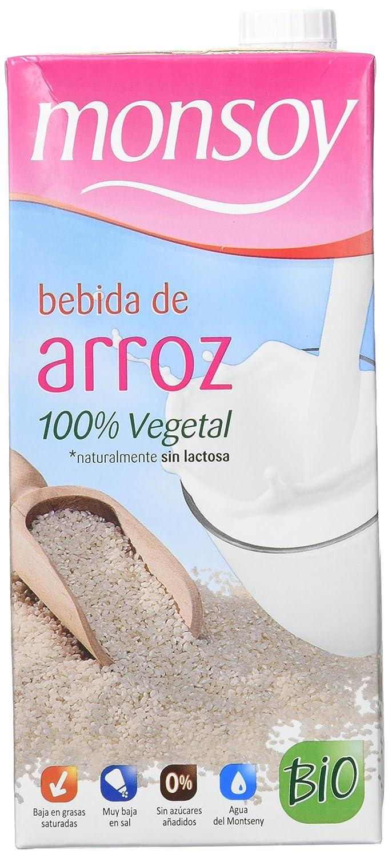 MONSOY Bebida de Arroz Ecologica 1L [caja de 4 x 1L]: Amazon.es: Alimentación y bebidas
