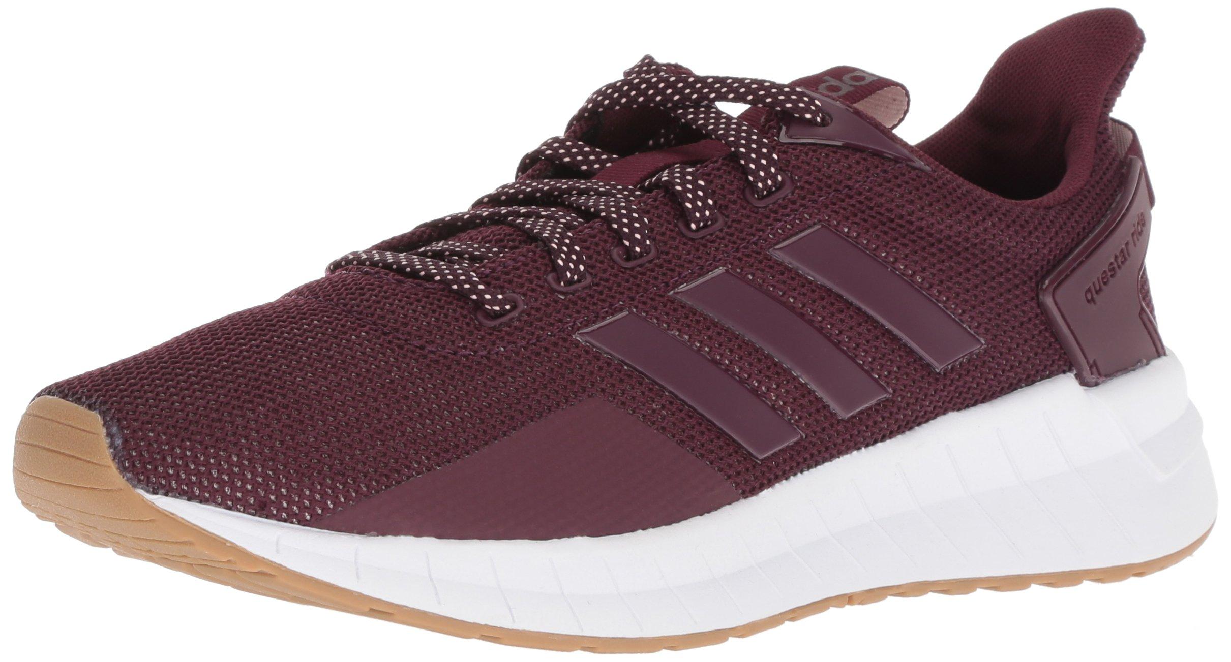 adidas Women's Questar Ride Running Shoe, Maroon/Maroon/Gum, 7.5 M US